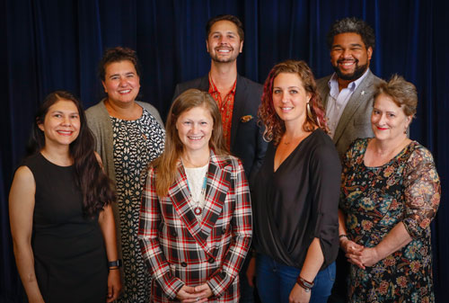 A group photo of School Board directors