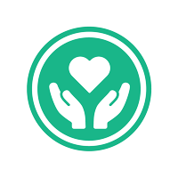 graphic with two hands holding a heart