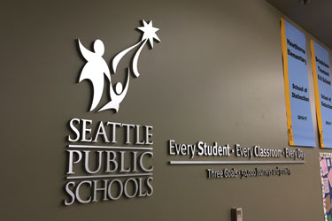 A photo of the SPS logo