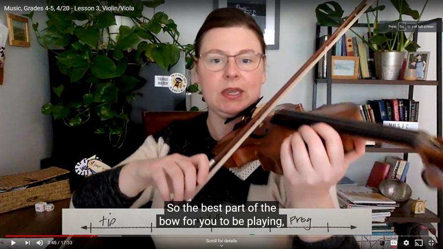 Photo of violin lesson