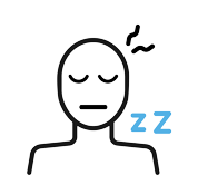 An illustration representing a sleeping person