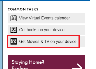 Get movies & TV on your device