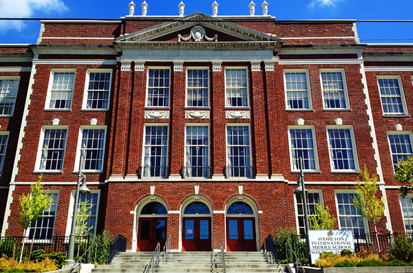 Hamilton Middle School exterior