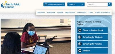 A screenshot of the homepage