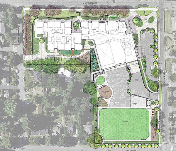 a site plan drawing