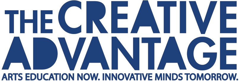 The Creative Advantage logo: Arts education now. Innovative minds tomorrow.