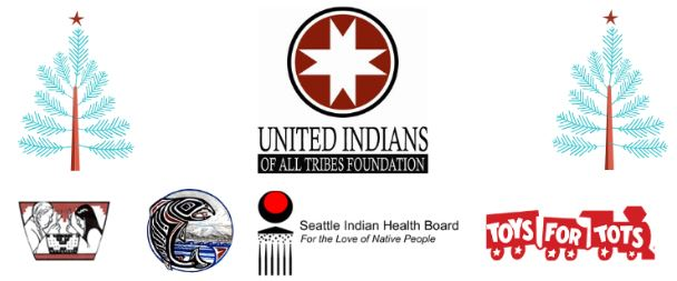 Sponsores: Huchoosedah, United Indians of All Tribes Foundation, Cowlitz, Toys for Tots, Seattle Indian Health Board