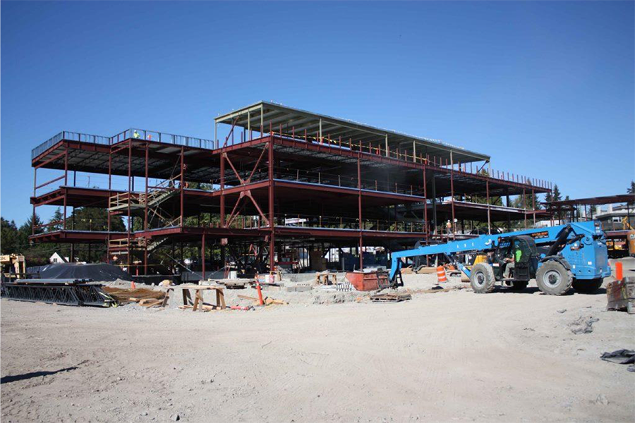 photo of school under construction
