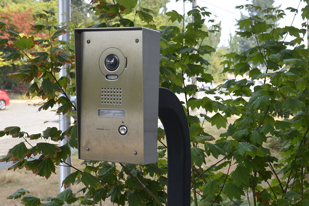 photo of video-intercom entry system