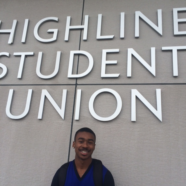 Student at ACHIEVE at Highline College.